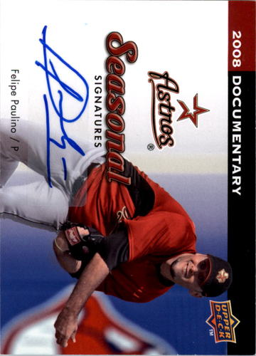 Photo of 2008 Upper Deck Documentary Seasonal Signatures #FP Felipe Paulino