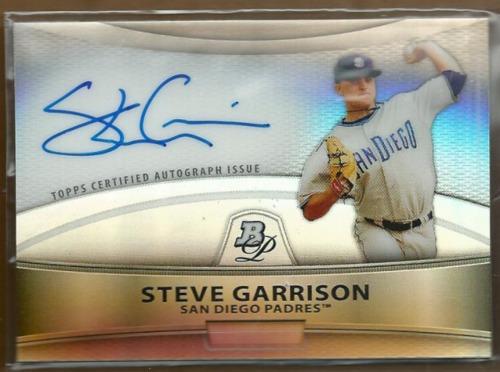 Photo of 2010 Bowman Platinum Prospect Autographs Refractors #SG Steve Garrison