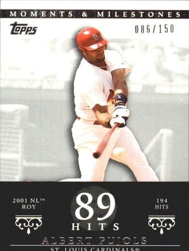 Photo of 2007 Topps Moments and Milestones #3-89 Albert Pujols/Hit 89