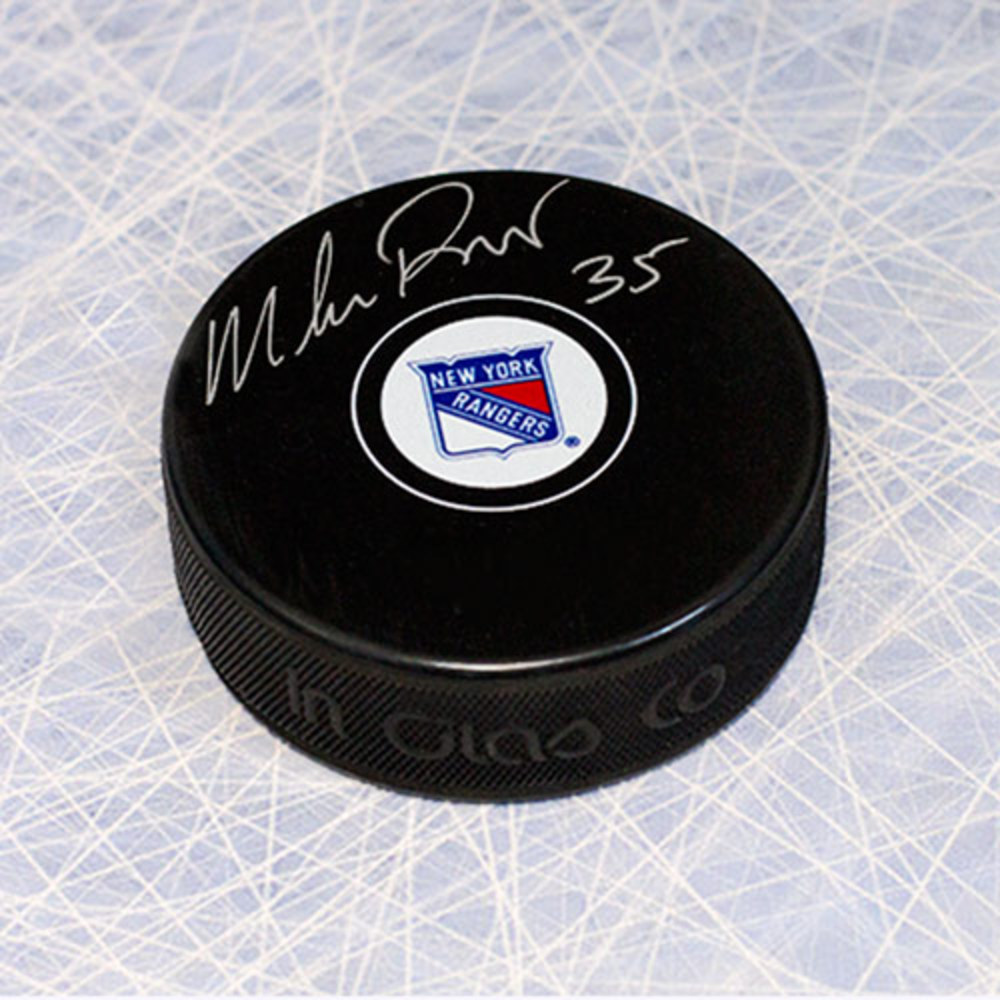 Mike Richter New York Rangers Autographed Hockey Puck