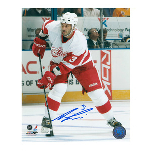ANDRES LILJA Signed Detroit Red Wings 8 X 10 Photo - 70316
