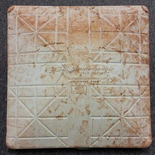 Photo of Authenticated Game-Used 1st Base from July 2, 2016 vs Cleveland Indians - used for innings 7-9. Rajai Davis Double in the 7th, and Single in 9th innings to hit for the cycle