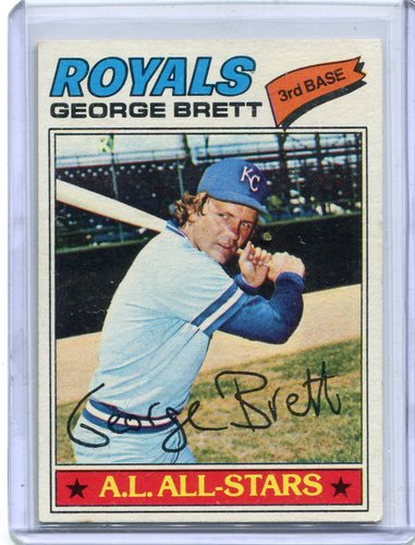 Photo of 1977 Topps #580 George Brett -- Hall of Famer