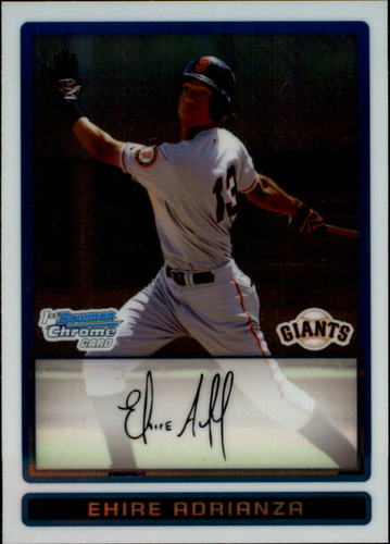 Photo of 2009 Bowman Chrome Prospects #BCP16 Ehire Adrianza -- Twins post-season
