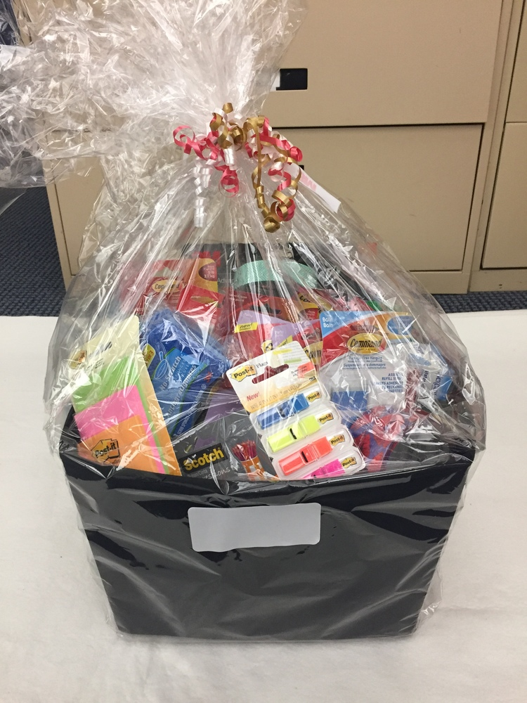 Office Supplies Basket for Easter Seals Ontario
