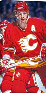 Al Macinnis - 14x28 Hockey Hall Of Fame Canvas - Calgary Flames