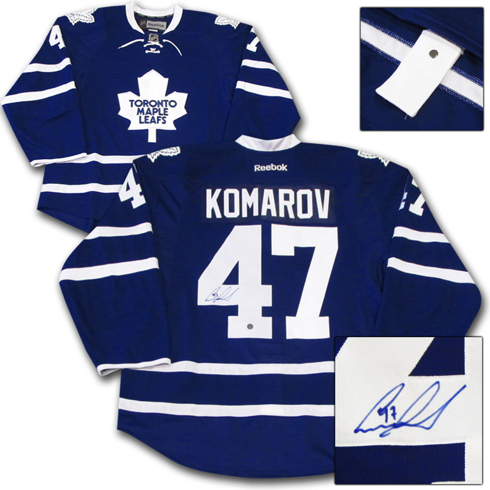 Leo Komarov Autographed Toronto Maple Leafs Authentic Pro Jersey