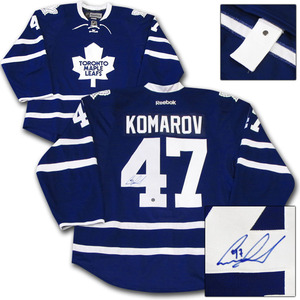 Leo Komarov Autographed Toronto Maple Leafs Authentic Pro Jersey