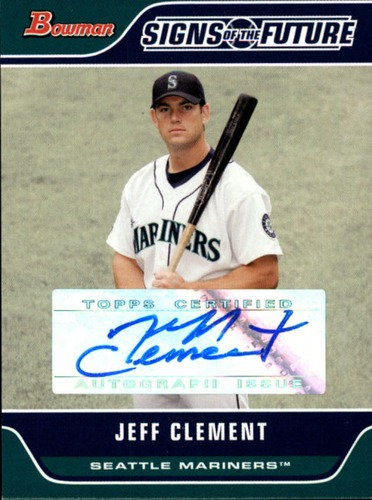 Photo of 2006 Bowman Signs of the Future #JC Jeff Clement B