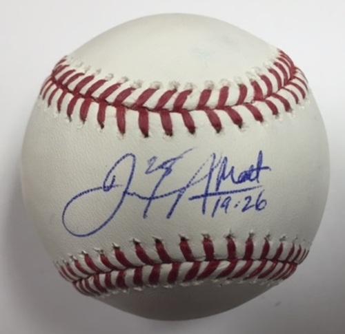 Photo of Daniel Nava Autographed Baseball - Bible Verse