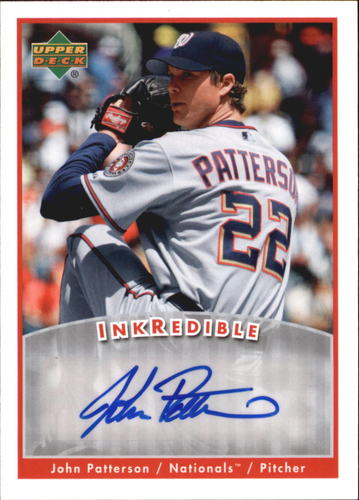 Photo of 2006 Upper Deck INKredible #PA John Patterson UPD