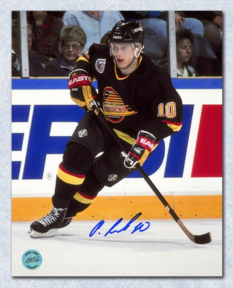 Pavel Bure Vancouver Canucks Autographed Skating 8x10 Photo