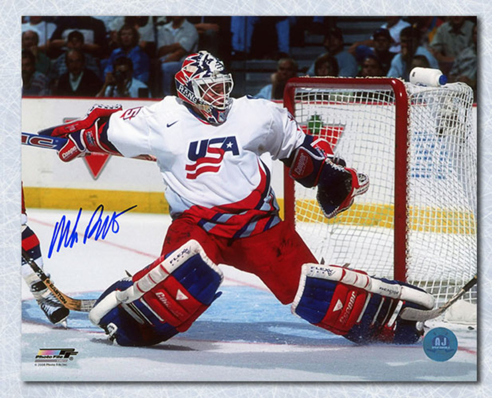 Mike Richter USA Hockey Autographed World Cup Goalie 8x10 Photo *New York Rangers*