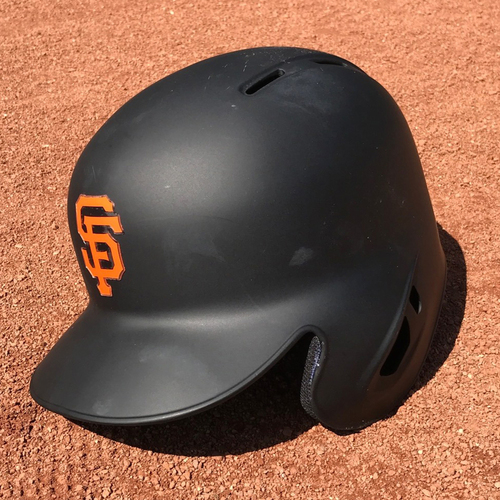 Photo of San Francisco Giants - Game-Used Helmet - Christian Arroyo #22 - worn during his MLB Debut and 1st Major League Hit