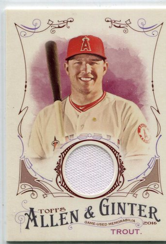Photo of 2016 Topps Allen and Ginter Relics Mike Trout