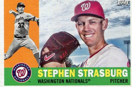 Photo of 2017 Topps Archives #65 Stephen Strasburg -- Nationals post-season