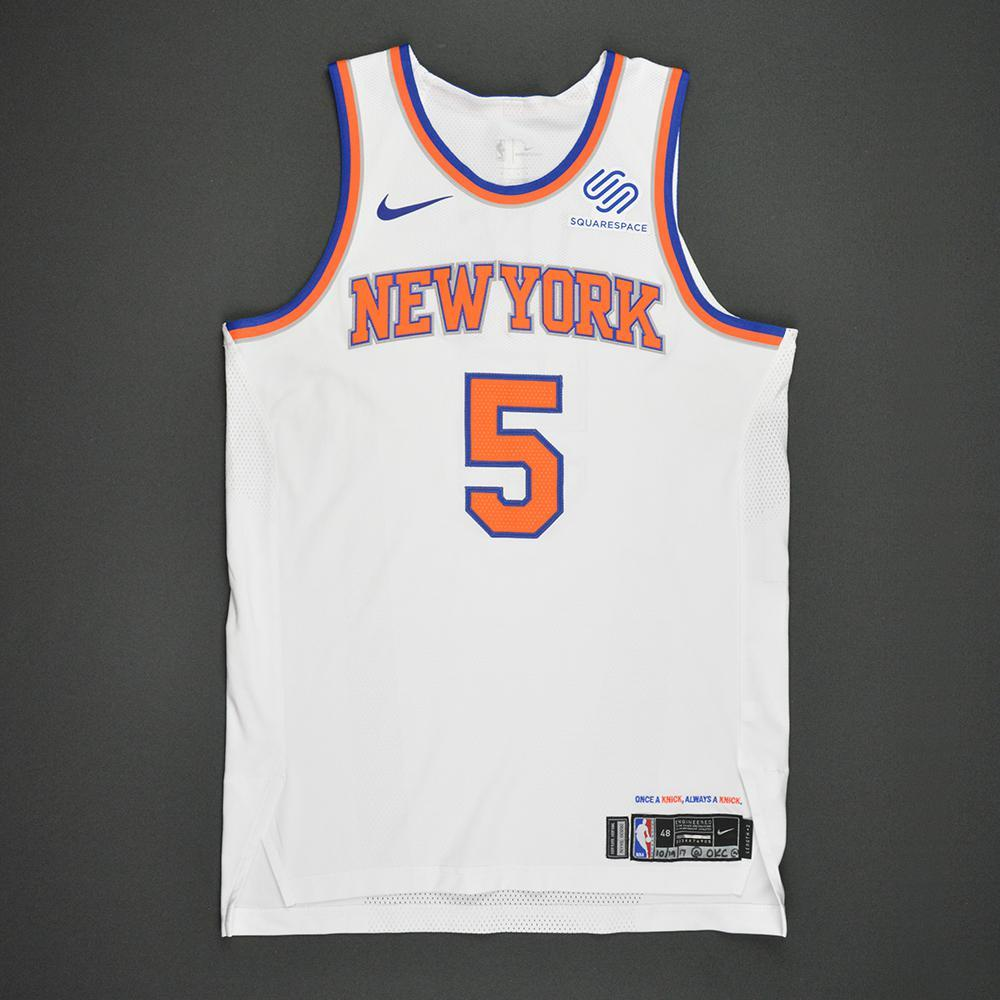 Courtney Lee - New York Knicks - Kia NBA Tip-Off 2017 - Game-Worn 1st Half Only Jersey