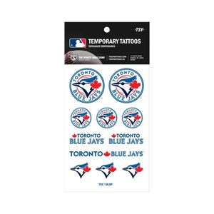 Toronto Blue Jays Temporary Tattoo Sheet by The Sports Vault