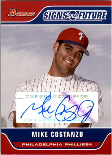 Photo of 2006 Bowman Signs of the Future #MC Mike Costanzo D