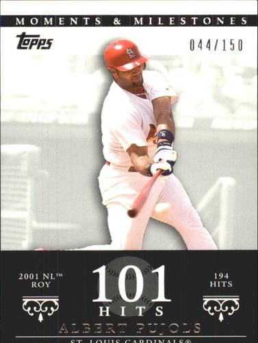 Photo of 2007 Topps Moments and Milestones #3-101 Albert Pujols/Hit 101