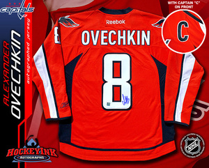 ALEXANDER OVECHKIN Signed RBK Premier Red Jersey with CAPTAIN C - Washington Capitals