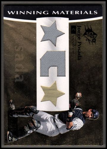 Photo of 2008 SPx Winning Materials Dual Position 20 #PO Jorge Posada/20