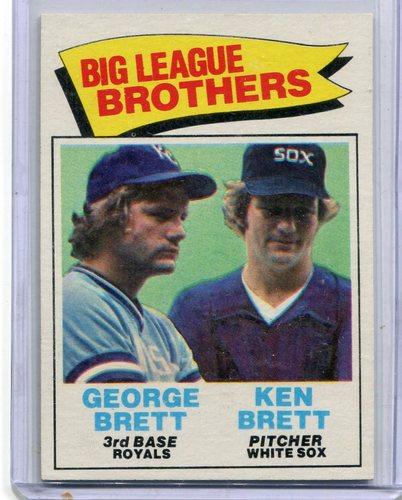Photo of 1977 Topps #631 Brothers/George Brett/Ken Brett