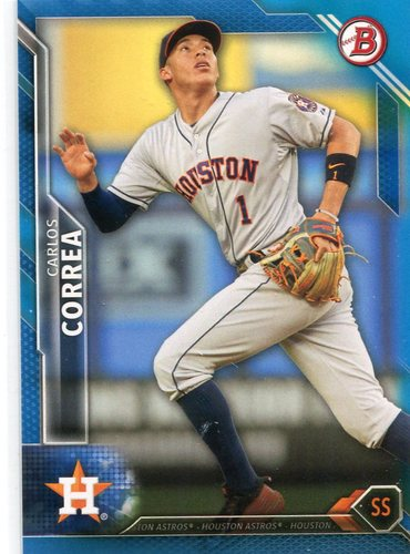 Photo of 2016 Bowman Blue #30 Carlos Correa