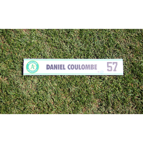 Photo of Daniel Coulombe #57 2017 Team-Issued Spring Training Locker Nameplate