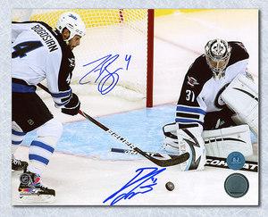 Zach Bogosian & Ondrej Pavelec Winnipeg Jets Dual Signed 16x20 Photo