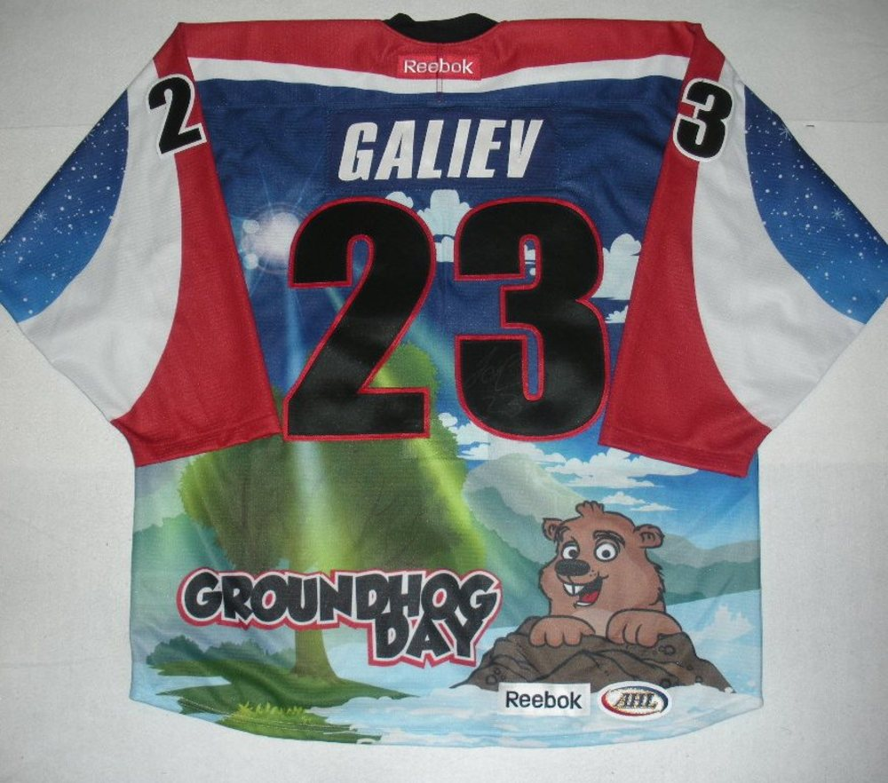 Stanislav Galiev - Hershey Bears - Groundhog Day Autographed Game-Issued Jersey