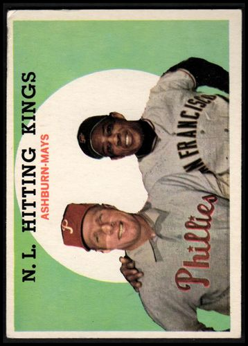 Photo of 1959 Topps #317 NL Hitting Kings/Willie Mays/Richie Ashburn