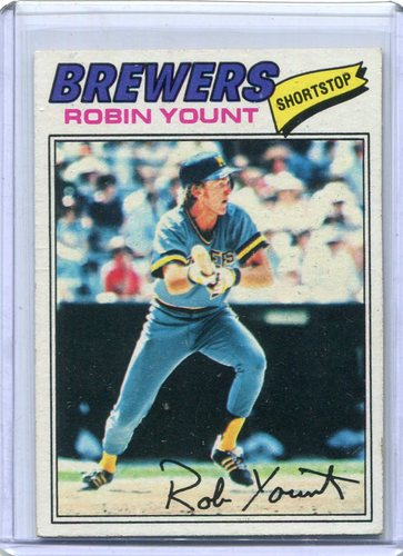 Photo of 1977 Topps #635 Robin Yount -- Hall of Famer