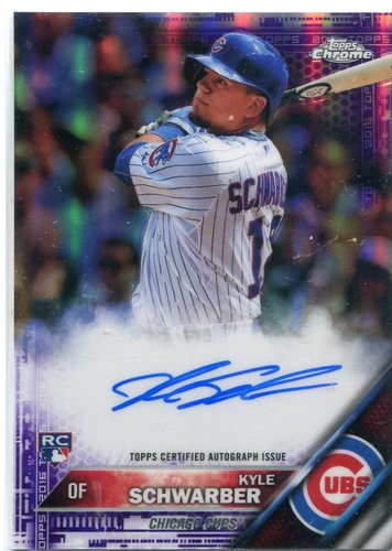 Photo of 2016 Topps Chrome Rookie Autographs Purple Refractor Kyle Schwarber 171/250