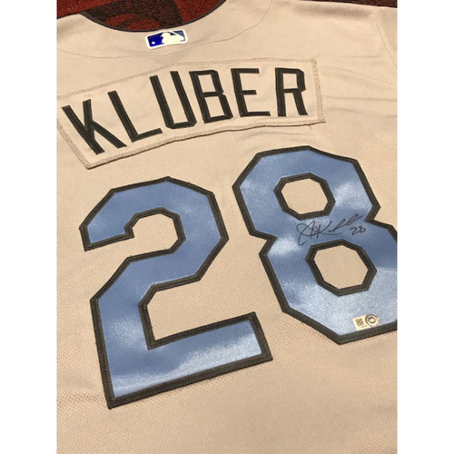 Photo of Corey Kluber Autographed Father's Day Jersey