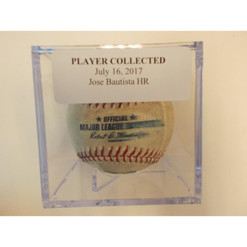 Player Collected Baseball: Jose Bautista Home Run