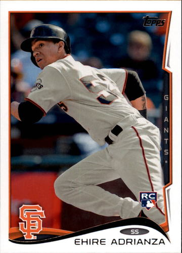 Photo of 2014 Topps Update #US105 Ehire Adrianza Rookie Card -- Twins post-season