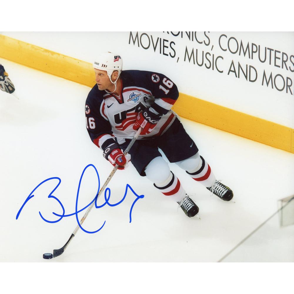 Brett Hull US Hockey Team Autographed 8'' x 10'' Olympics Photo