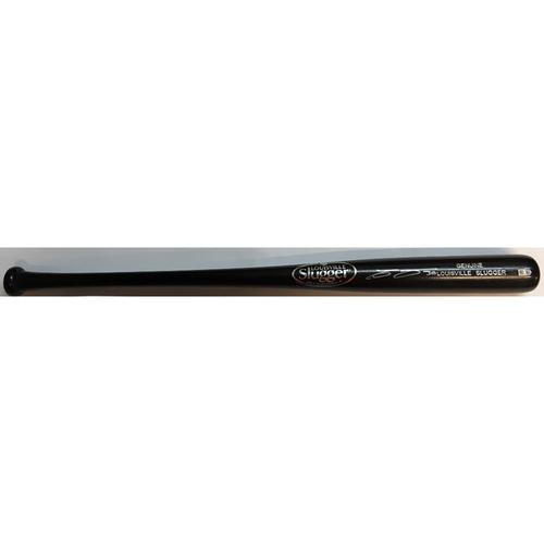 Carlos Gomez Autographed Black Louisville Slugger Bat