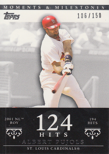 Photo of 2007 Topps Moments and Milestones #3-124 Albert Pujols/Hit 124