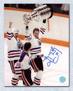 Marty McSorley Edmonton Oilers Autographed Stanley Cup 8x10 Photo