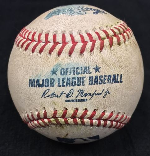 Photo of Game Used Baseball from Pirates vs. Cubs on 9/28/2016 - Arrieta to Rodriguez, Double