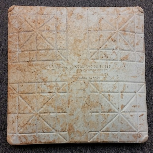 Photo of Authenticated Game-Used 1st Base from April 1, 2016 and April 2, 2016 vs Boston Red Sox in Monreal Exibition Series - used for innings 6-10 on April 1, and used for innings 6-9 on April 2.