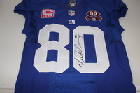 BCA - GIANTS VICTOR CRUZ SIGNED AND GAME ISSUED JERSEY - SIZE 42