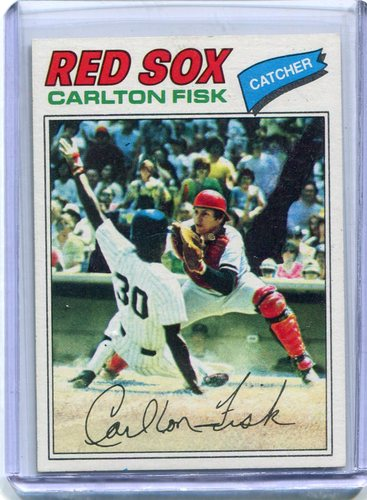 Photo of 1977 Topps #640 Carlton Fisk -- Hall of Famer