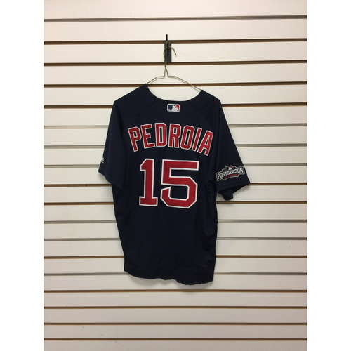 Photo of Dustin Pedroia Game-Used September 23, 2016 Road Alternate Jersey