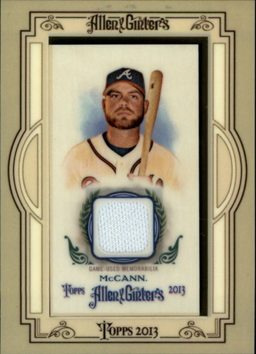 Photo of 2013 Topps Allen and Ginter Framed Mini Relics #BMC Brian McCann -- Astros post-season