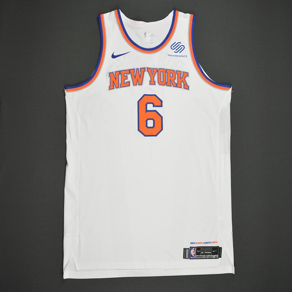 Kristaps Porzingis - New York Knicks - Kia NBA Tip-Off 2017 - Game-Worn 1st Half Only Jersey - Double-Double