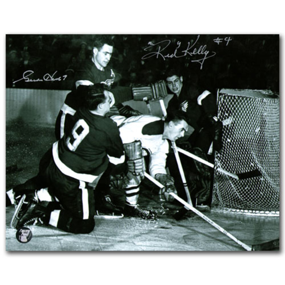 Gordie Howe & Red Kelly Dual-Signed Detroit Red Wings 8X10 Photo