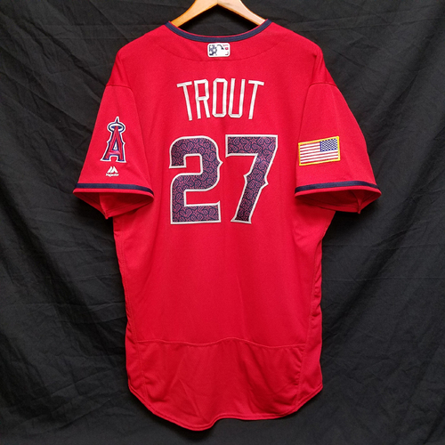 Photo of Mike Trout Game-Used 4th of July Jersey
